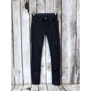Hudson Krista Super Skinny Coated Wax Jeans